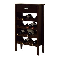 Monarch Specialties - Monarch Specialties 21 x 10 Wine Rack for 16 Battles in Cappuccino - If you are always looking for somewhere to put all your wine bottles you can now stop! Get this solid-wood cappuccino finished wine rack that conveniently holds 16 of your favorite wine bottles! Because of its modern look, this wine rack will fit in perfectly in any room and with any decor. What's included: Wine Rack (1).