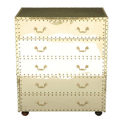 Brass Sarried High Chest - This vintage chest of drawers is amazing. It's gold and fabulous and a pretty little unit than can store all your needs.