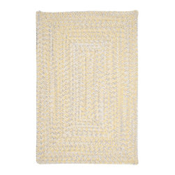 Colonial Mills, Inc. - Indoor/Outdoor Catalina, Sun Rug, Sample Size - Pretty up your patio, deck or other outdoor space with this durable, stain-resistant throw rug. Its pale yellow and wheat tones seem particularly suited to lend light and a sense of spaciousness to dark flooring.