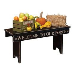 Amish Made Message Bench - 3 Ft., Welcome to Our... (White) - Welcome To Our Porch (white)