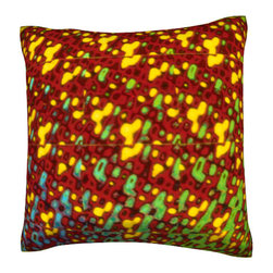 Custom Photo Factory - Colorful Shimmering Background Pillow.  Polyester Velour Throw Pillow - Colorful Shimmering Background Pillow. 18 Inches x 18  Inches.  Made in Los Angeles, CA, Set includes: One (1) pillow. Pattern: Full color dye sublimation art print. Cover closure: Concealed zipper. Cover materials: 100-percent polyester velour. Fill materials: Non-allergenic 100-percent polyester. Pillow shape: Square. Dimensions: 18.45 inches wide x 18.45 inches long. Care instructions: Machine washable