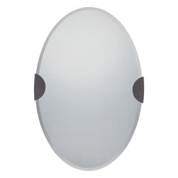 Quoizel - Quoizel Western Bronze Mirrors/Pictures - SKU: QR1664WT - The Barclay is a fabulous addition to any bathroom, bedroom, foyer, or hallway. It`s a sleek and sophisticated oval beveled mirror that comes in a Polished Chrome or Western Bronze finish.