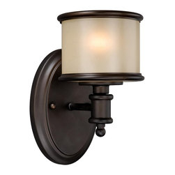Vaxcel Lighting - Vaxcel Lighting CR-VLU001NB Carlisle Transitional Wall Sconce - Vaxcel Lighting CR-VLU001NB Carlisle Transitional Wall Sconce