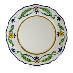 Artistica - Hand Made in Italy - CORONA LITE: Dinner Plate (Simple Decor - SIM) - CORONA Collection.