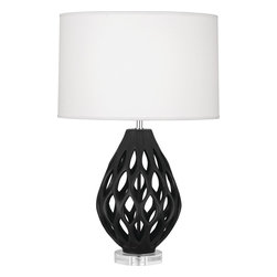 Robert Abbey - Odyssey Table Lamp - Sculpted curves and texture give this lamp a modern, organic look. Get a pair for either side of your bed or sofa to brighten a dark space.