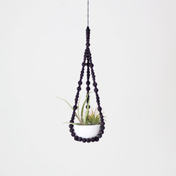 Small Beaded Plant Hanger by Hruskaa - Those who claimed that macramé is passé are so wrong. I love the modern twist this artist gave the old-fashioned idea of macramé.
