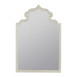 """Cooper Classics - Hewitt Aged Gold Round Mirror - The lovely aberdeen mirror will make a perfect addition to your home's decor.  This beautiful wall mirror features a white finish that will compliment any motif. Frame Dimensions: 24""""W X 36""""H; Mirror Dimensions: 21.5""""W X 32.75""""H; Finish: White; Material: Polyurethane; Beveled: No; Shape: Arched; Weight: 35; Included: Brackets, Ready to Hang"""