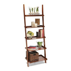 Convenience Concepts American Heritage Cherry Bookshelf Ladder