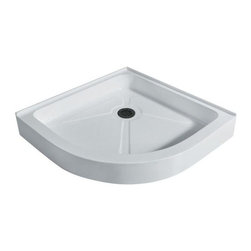 Vigo Industries - Vigo Neo-Round Shower Tray White (40 in.) - This Vigo shower tray serves as an excellent solution to prevent leaks for your custom or pre-built shower enclosure.