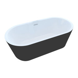 Arista - Rousseau 32 x 63 Freestanding One Piece Soaker Tub with Center Drain - DESCRIPTION