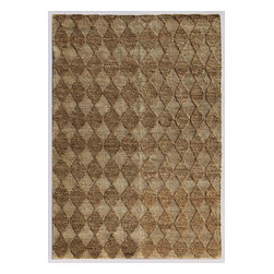 Jaipur Rugs - Naturals Textured Hemp Taupe/Ivory Area Rug (4 x 6) - Patterns created by both texture and color make these rugs unique. Constructed of 100% hemp they are durable and made to last.