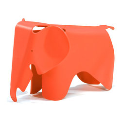 Zuo - Elephant Chair, Orange - Put the fun back in functional!  The Elephant chair is is made out of durable, scratch-free polypropylene and is perfect for any kid-friendly space.  This fun kid-proof seating is available in many colors.