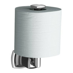 """Kohler - Kohler K-16255-CP Polished Chrome Margaux Margaux Single Post Vertical - Margaux(tm) vertical toilet tissue holderMargaux accessories create an aura of classic elegance with a variety of finishes that reinforce a sleek, contemporary feel as well as the timelessness of traditional décor.  3""""W x 4-1/2""""D x 7""""H  Classic, fluid styling that won t go out of style  Easy to install template included  Premium metal construction for durability and reliability  Coordinates with Margaux faucets"""