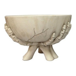 Skeleton Hand Candy Bowl - Pray that your fingers don't brush against those creepy skeletal hands when you reach in for some candy!