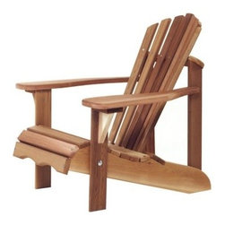 All Things Cedar Child Adirondack Chair - On those rare occasions that you can get your children to slow down, let them sink into the All Things Cedar Child Adirondack Chair and see how nice it can be to just sit. They'll get plenty of support from the deep seat, high back and wide arms, all scaled down to fit their kid-sized frames. Mortise and tenon joinery adds strength while the zinc-plated hardware is designed to resist rusting and corrosion, so it won't spoil the appearance of their new favorite outdoor chair.About All Things Cedar A world leader in fine patio furniture, garden furniture, and other accessories, All Things Cedar is a smart choice for your outdoor needs. They offer an extensive line of unique items made from high-quality, weather-resistant woods, including clear-grade cedar, teak, and more. Their items are designed with care in timeless fashions that are sure to enhance your space. All Things Cedar prides themselves on fine customer service and dependable products.