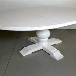 White Round Extension Table - Made by http://www.ecustomfinishes.com