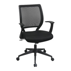 Office Star - Office Star Screen Back Chair with Mesh Seat and Fixed Designer Arms - Office Star - Office Chairs - EM51022N3 - Office star is one of the most trusted brands in North America. Bringing quality furniture at an exceptional price the entire range of Office Star chairs bring amazing comfort that will last for years to come.