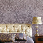Florentine Damask Wall Stencil - Romantic Florentine Damask Wall Stencil from Royal Design Studio Stencils. Stenciling your own custom wallpaper pattern is easy and you can customize with the color of your choice. This large motif stencil can also be used to create a random pattern on your walls.