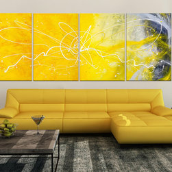"Original Abstract Painting ""Desert Flower""  by Abstract Artist: Dora Woodrum - Original Abstract Painting ""Desert Flower"""