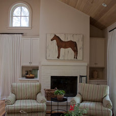 Farmhouse Family Room by Julia Mora Design