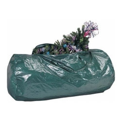 Richards Homewares - Christmas Tree Storage Bag - The new trend in holiday decor is using an artificial tree year after year instead of cutting down new trees each year. But what do you do with that tree once you take it down? This Artificial Tree Storage Bag by Richards Homewares will keep your tree nestled and protected all year round for many years to come. This tree storage bag is built to last. The strong stitched in handles and self correcting nylon zipper add convenience and durability. Strong puncture resistant material. Self correcting nylon zippper. Color: Green.