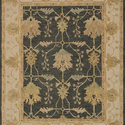 """Loloi Rugs - Loloi Rugs Walden Collection - Charcoal / Oatmeal, 3'-6"""" x 5'-6"""" - Reimagine traditional styling with the sumptuously textured Walden Collection. These elegant, classic designs apply historic rug motifs in fresh, nuanced ways, creating timeless looks with modern appeal. Handcrafted in India in a cut-and-loop, high-low construction, each wool Walden design enjoys an airy, open pattern that is punctuated with texture and complemented with a palette perfect for today's lifestyles. If you thought you knew traditional, take a another look. Walden will surprise you.��"""