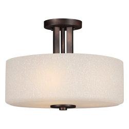 Forte Lighting - Forte Lighting 2548-03 3 Light Semi-Flush Ceiling Fixture - Features: