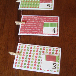 Advent Calendar Envelope Garland by Here