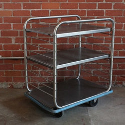 Stainless 3 Tier Industrial Cart -