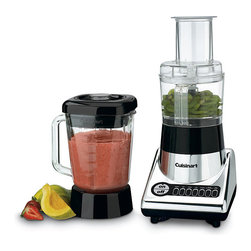 Cuisinart - Cuisinart BFP-10CH Chrome PowerBlend Duet Blender and Food Processor - Simplify food preparation with this seven-speed electronic Cuisinart food processor. Able to slice,dice,chop and crush,this small appliance lets you to deliver meals to your family in record time.