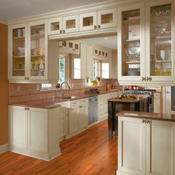 Off White Cabinets in Casual Kitchen - Kitchen Craft Cabinetry -