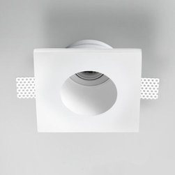 "Zaneen - Zaneen | Invisibili 7 Inch Adjustable Square LED Recessed Lighting - Made in Italy by Zaneen.The Invisibili 7 Inch Adjustable Square LED Recessed Lighting from Zaneen features an innovative design that the designer intended to be ""invisible"". Invisibili draws a clear dividing line between a ""before"" and ""after""; the before is represented by a traditional product - plaster, which has existed for many years in the field of architectural lighting. The after is represented through innovative LED technology and a clean, modern, re-worked design. Conceived with the same simplicity with which things are formed in nature. Features an adjustable, metal white LED spot for great functionality and versatility. Easy installation. LED power supply sold separately.Installation Note: Suitable for installation in non-insulated ceilings and walls only.Features:"