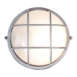 Access Lighting - Nauticus 1-lt Outdoor Circular Wet Location Bulkhead - Medium, Satin Finish - Nauticus 1-lt Outdoor Circular Wet Location Bulkhead - Medium