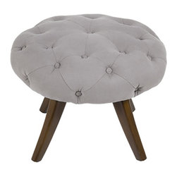 Hammers and Heels - Tilly Tufted Linen Ottoman Stool - The Tilly design is versatile so it can double as an ottoman or stool. Heirloom quality materials and methods such as a kiln dried solid wood frame to the tufted button detail, to ensure your piece lasts a lifetime.  Upholstered with luxurious 100% Belgian linen creating a stunning patina over time.