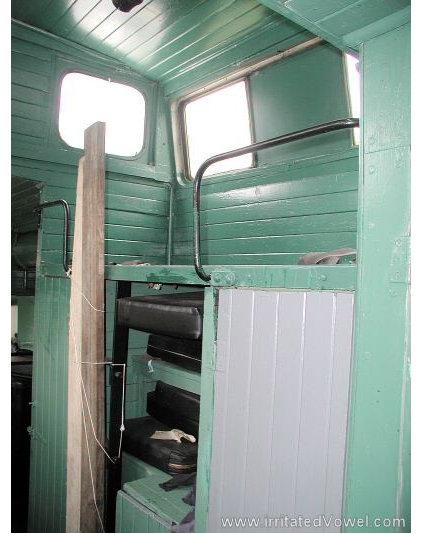 Eclectic  Caboose Cupola interior shot