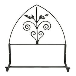 Achla - Wrought Iron Flowerbox w Frieze - This lovely flowerbox provides a spacious area in which to plant your favorite flowers.  Its wrought iron ornamentation offers a decorative frieze above, offering a very poignant exterior design piece that will look wonderful on any wall, whether by the patio or front door. * This lovely flowerbox provides a spacious area in which to plant your favorite flowers. Its wrought iron ornamentation offers a decorative frieze above, offering a very poignant exterior design piece that will look wonderful on any wall, whether by the patio or front door. Graphite powdercoat18in. W x 9in. D x 24in. H