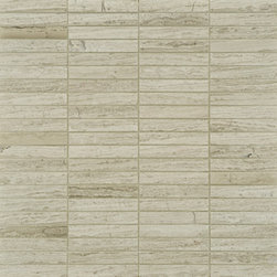 Athens Silver Cream Stone Tile  - Ann Sacks Tile & Stone - If you're looking for an elegant and modern tile, and want something a little different, this is a great choice. It's almost like a wood grain - and such a wonderful neutral gray/beige color. Comes in a variety of field sizes and mosaics.