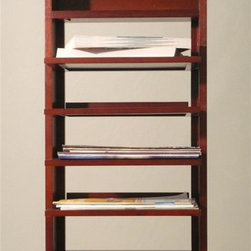 Proman Products - Caesar Magazine Stand - Black velvet insert on shelves and table top. Removable shelving for easy cleaning. Can be used as night stand or end table. Elegant mahogany finish. No assembly required. Shelving size: 12 in. W x 9.5 in. D. Overall: 13.75 in. W x 13.75 in. D x 29 in. HCaesar Magazine Stand is the ultimate furniture piece to store your magazine and books. It can also serve as end table, night stand, or coffee table. This beautiful magazine stand also provide space for your glasses and small accessories. Very practical. Very convenient.