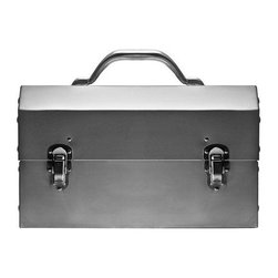 Nickel-Plated Aluminum Lunch Box - This lunch box made me swoon! It is so sturdy, industrial and all-around classic.