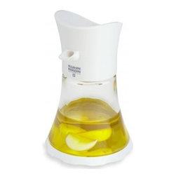 Kuhn Rikon - Kuhn Rikon Vase Cruet Oil/Vinegar - White - Try something new! Oil and Vinegar aren't just for salads - try pouring over vegetables, pasta, grains or even fruits.