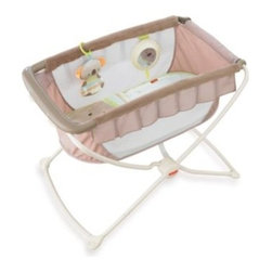 Fisher Price - Fisher-Price Deluxe Rock n' Play Portable Bassinet - This portable sleeping environment for baby is designed to fit besides parent's bed. It has a flat, elevated sleeping surface, breathable sides and rocks with just a gentle push.