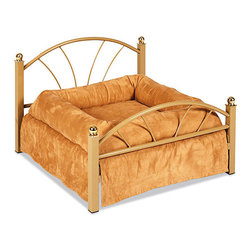 'Nap of Luxury' Ultimate Dog Bed - This could complement or match the human master of the house's own bedroom set.
