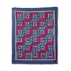 Patch Magic - Red Log Cabin Throw - 50 in. W x 60 in. L. 100% Cotton. Handmade, hand quilted. Machine washable. Line or flat dry only