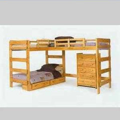 Triple loft bunk bed frame