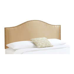 Skyline Furniture - Nail Button Velvet Upholstered Headboard - 910-VELVET-POOL - Shop for Headboards and Footboards from Hayneedle.com! The Skyline Nail Button Velvet Upholstered Headboard makes a welcome addition to any bed. A gently curved top and nail button lines the exterior edge. This look offers stylish comfort along with it's simple yet classic look. Interior is composed of pine wood frame with polyurethane foam cushion core. Array of color options in Velvet 100% Polyester soft and smooth to the touch with short dense pile velvety most luxurious of fabric choices.Headboard Dimensions: Twin: 41L x 4W x 51H inches Full: 56L x 4W x 51H inches Queen: 62L x 4W x 51H inches King: 80L x 4W x 51H inches California King: 74L x 4W x 51H inches This item is the headboard (only) if you like this look in a matching bed frame please view Related Items for complete bed set. About Skyline Furniture Manufacturing Inc.Skyline Furniture was founded in 1948 with the goal of producing stylish affordable quality furniture for the home. After more than 50 years this family-run business is still designing and manufacturing unique products that meet the ever-changing demands of the modern home furnishing industry. Located in the south suburbs of Chicago the company produces a wide variety of innovative products for the home including chairs headboards benches and coffee tables.
