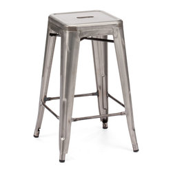 Design Lab MN - Amalfi Stackable Clear Gunmetal Steel Counter Stool Set of 4 - The amalfi steel stackable counter stool is a fantastic designed counter stool to add to any restaurant, bistro or coffee house. This counter stool is produced in rolled steel which can withstand any high traffic area. It also can be stacked to save space if needed. Produced by Design Lab MN, this product is manufacturer to highest standards in the furniture industry.