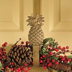 Pineapple Wreath Hanger - Add a beautiful wreath hanger to your door for a stylish way to hang your seasonal wreaths without damaging the door.