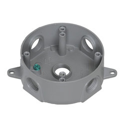 """Westgate - Westgate 4"""" Round Box with 5-3/4"""" Hubs - 4"""" round w/p box with 5-3/4"""" hubsSold in increments of 10"""