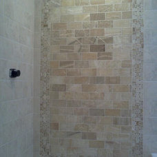 Contemporary Showers by Michigan Tile and Carpet
