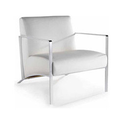 Risa Lounge Chair By Nuevo Living - This Risa Chair by Nuevo is designed to incorporate the latest fashion trends into a comfortable,elegant,and classic style. With the ability to match any decor,this piece has a chromed steel frame and comfortable,upholstered leather.
